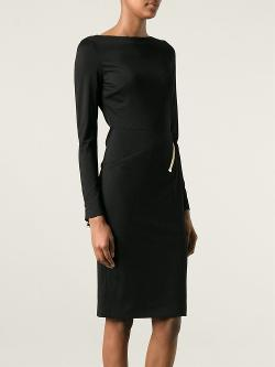 Tom Ford  - Zip Detail Black Pencil Dress