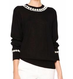 Dolce & Gabbana - Daisy-Applique Long-Sleeve Sweater