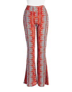 Design Lab Lord & Taylor - Printed Wide-Leg Pants