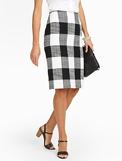 Talbots - Bold Plaid Pencil Skirt