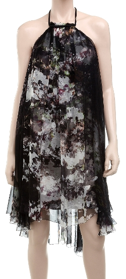 Leon Max - Silk Chiffon Watercolour Dress