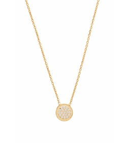 Natalie B Jewelry - Natalie B Ottoman Small Disc Necklace