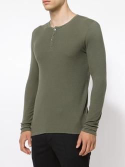ATM - Long Sleeve Henley T-Shirt