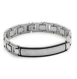 Saks Fifth Avenue  - Stainless Steel & Titanium Link Bracelet