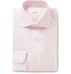 Brioni   - Pink Cotton Shirt
