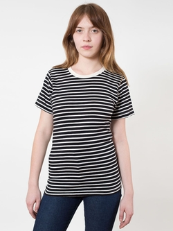 American Apparel - Unisex Stripe T-Shirt