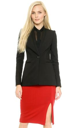Alice + Olivia  - Fitted Slim Blazer