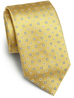 Saks Fifth Avenue Collection - Mini Floral Print Silk Tie