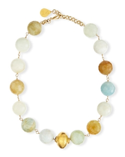 Devon Leigh - Faceted Aquamarine Necklace