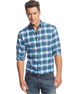 John Ashford - Long Sleeve Ombre Plaid Flannel Shirt