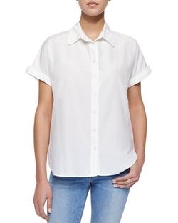 Frame - Le Classic Short-Sleeve Blouse
