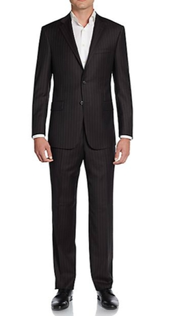 Hickey Freeman - Striped Worsted Wool Suit