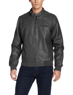 Members Only - Faux Leather Racer Jacket