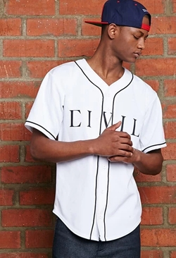 21 Men - Team Rebel Flag Baseball Jersey
