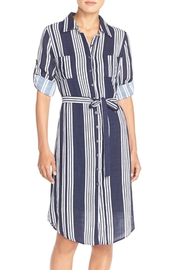 KUT from the Kloth  - Stripe Woven Shirtdress