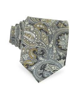 Forzieri - Ornamental Print Silk Tie
