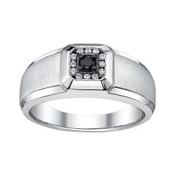Platina  - Black & White Diamond Ring