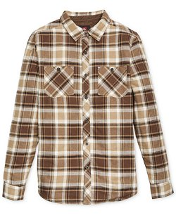Quiksilver  - Belly Up Quilt-Lined Plaid Shirt Jacket