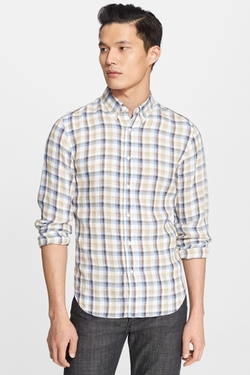 Todd Snyder - Extra Trim Fit Check Irish Linen Check Woven Shirt