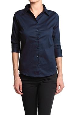 TheMogan - 3/4 Sleeve Slim Shirt