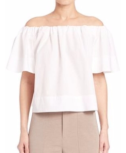 Vince - Off-The-Shoulder Poplin Top