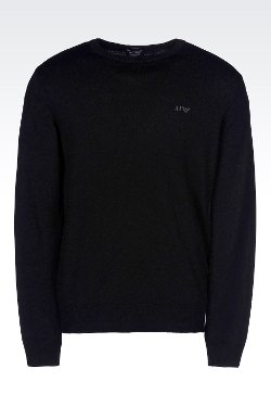 Armani Jeans - Crew Neck Jumper In Virgin Wool