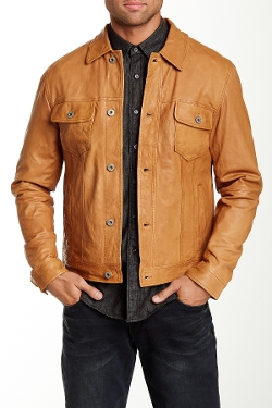 Lucky Brand - Genuine Leather Trucker Jacket