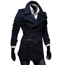 MNBS - Stylish Slim Double Breasted Overcoat Trench Coat