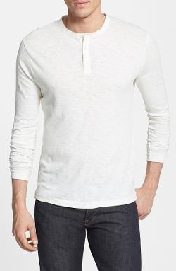 French Connection - Long Sleeve Slub Cotton Henley