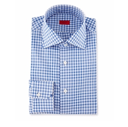 Isaia  - Irregular-Check Dress Shirt
