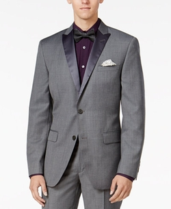 Bar III -  Slim-Fit Textured Tuxedo Jacket