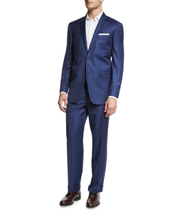 Ike Behar	  - Two-Piece Striped Suit