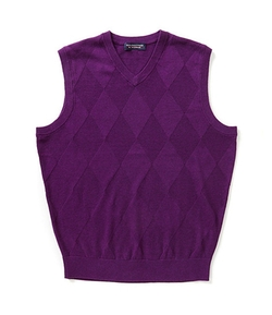 Roundtree & Yorke  - Diamond Textured Sweater Vest