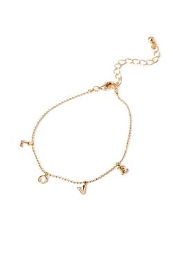 Forever 21 - Love Pendant Bracelet