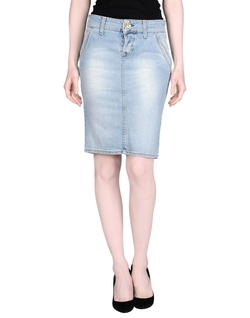 Two Women In the World - Front Closure Denim Skirt