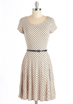 Mod Cloth - The Dot That Flounce Dress