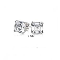 Bling Jewelry - Square Asscher Cut Stud Earrings