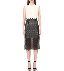 Sandro - Ryo Layered Sik And Mesh Dress