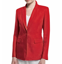 Lafayette 148 New York - Mackenzie Lavish One-Button Linen Jacket