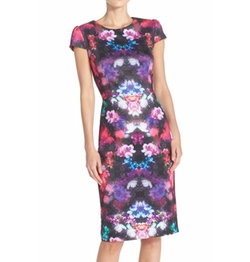 Betsey Johnson - Print Scuba Sheath Dress