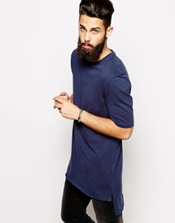 ASOS  - Stepped Hem Skater FitT-Shirt