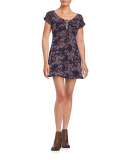 Free People  - Short Sleeved Floral Dress