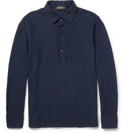 Loro Piana - Long-Sleeved Polo Shirt
