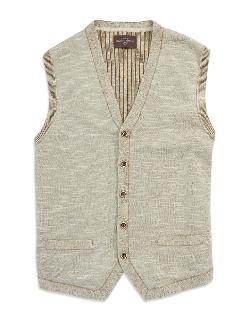 BLACK BROWN 1826  - Button-Down Sweater Vest