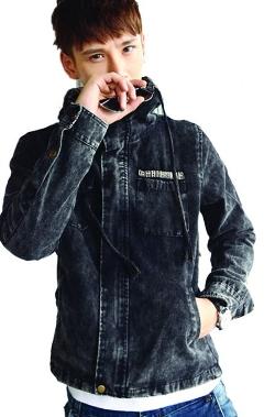 Easy Mens Clothes - Zip Up Denim Jacket