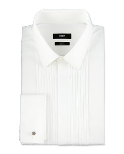 Boss Hugo Boss - Slim Fit Two Ply Pleated Tuxedo Shirt