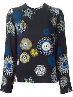 MSGM  - Optical Print Blouse