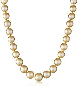 Radiance Pearls - Golden South Sea Pearl Necklace