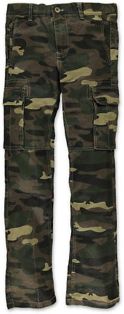 Free World - Boys Messenger Camo Print Cargo Pants