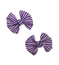 Webb Direct 2U - Striped GrosGrain Hair Bows Alligator Clips